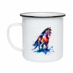 Кружка эмалированная Watercolor horse