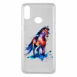Чехол для Samsung A10s Watercolor horse