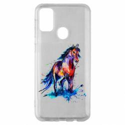 Чехол для Samsung M30s Watercolor horse