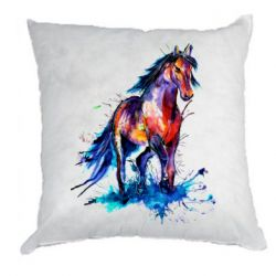 Подушка Watercolor horse
