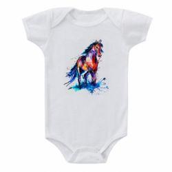 Детский бодик Watercolor horse