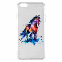 Чехол для iPhone 6 Plus/6S Plus Watercolor horse