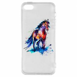 Чехол для iPhone5/5S/SE Watercolor horse