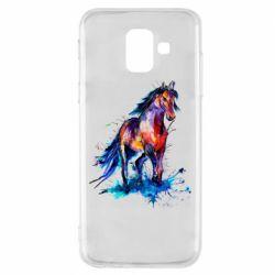 Чехол для Samsung A6 2018 Watercolor horse