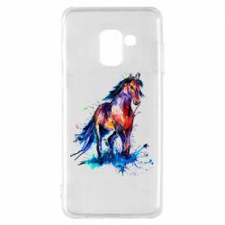 Чехол для Samsung A8 2018 Watercolor horse