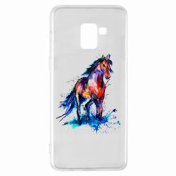 Чехол для Samsung A8+ 2018 Watercolor horse