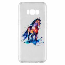 Чехол для Samsung S8+ Watercolor horse
