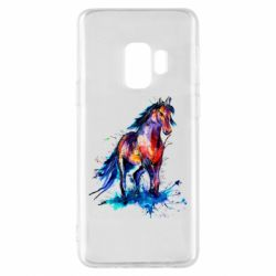 Чехол для Samsung S9 Watercolor horse
