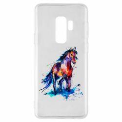 Чехол для Samsung S9+ Watercolor horse