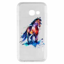 Чехол для Samsung A3 2017 Watercolor horse