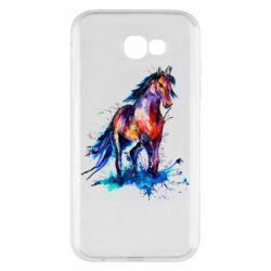 Чехол для Samsung A7 2017 Watercolor horse