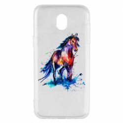 Чехол для Samsung J5 2017 Watercolor horse