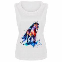 Женская майка Watercolor horse