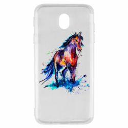 Чехол для Samsung J7 2017 Watercolor horse