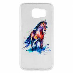 Чехол для Samsung S6 Watercolor horse