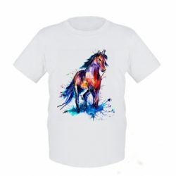 Детская футболка Watercolor horse