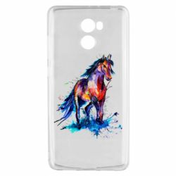 Чехол для Xiaomi Redmi 4 Watercolor horse