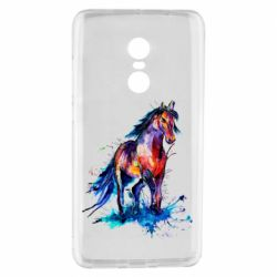 Чехол для Xiaomi Redmi Note 4 Watercolor horse