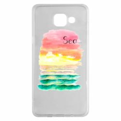 Чехол для Samsung A5 2016 Watercolor pattern with sea