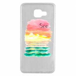 Чехол для Samsung A7 2016 Watercolor pattern with sea