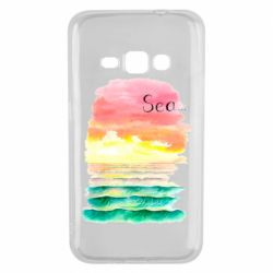 Чехол для Samsung J1 2016 Watercolor pattern with sea