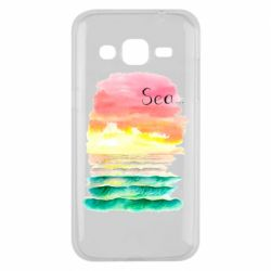 Чехол для Samsung J2 2015 Watercolor pattern with sea