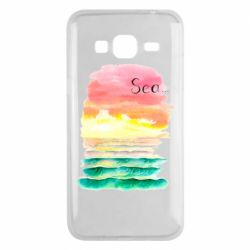 Чехол для Samsung J3 2016 Watercolor pattern with sea
