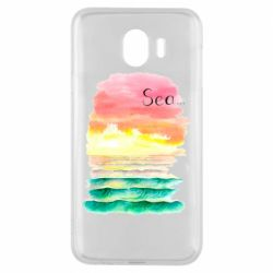 Чехол для Samsung J4 Watercolor pattern with sea