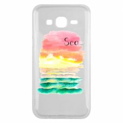 Чехол для Samsung J5 2015 Watercolor pattern with sea