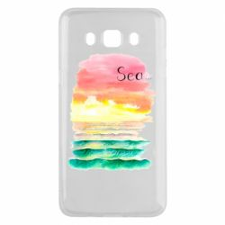 Чехол для Samsung J5 2016 Watercolor pattern with sea