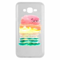 Чехол для Samsung J7 2015 Watercolor pattern with sea