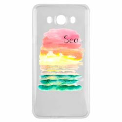 Чехол для Samsung J7 2016 Watercolor pattern with sea