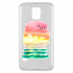 Чехол для Samsung S5 Watercolor pattern with sea
