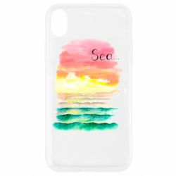 Чехол для iPhone XR Watercolor pattern with sea