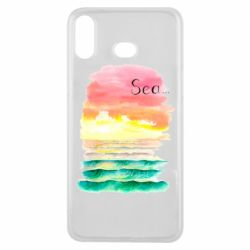 Чехол для Samsung A6s Watercolor pattern with sea