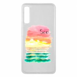 Чехол для Samsung A7 2018 Watercolor pattern with sea