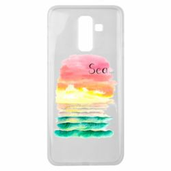 Чехол для Samsung J8 2018 Watercolor pattern with sea