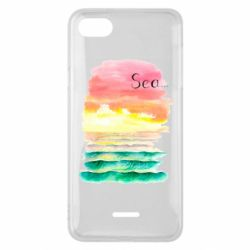 Чехол для Xiaomi Redmi 6A Watercolor pattern with sea