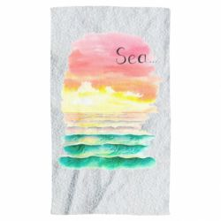 Полотенце Watercolor pattern with sea