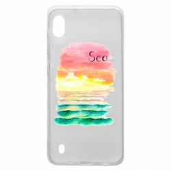 Чехол для Samsung A10 Watercolor pattern with sea