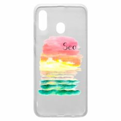 Чехол для Samsung A30 Watercolor pattern with sea