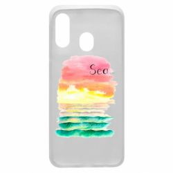 Чехол для Samsung A40 Watercolor pattern with sea