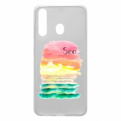 Чехол для Samsung A60 Watercolor pattern with sea