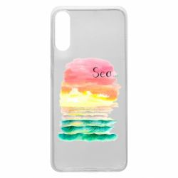 Чехол для Samsung A70 Watercolor pattern with sea