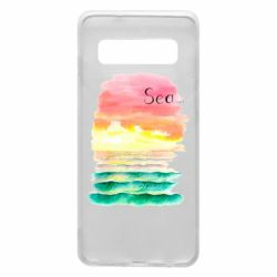 Чехол для Samsung S10 Watercolor pattern with sea