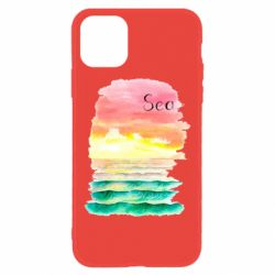 Чехол для iPhone 11 Watercolor pattern with sea
