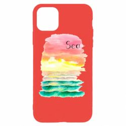 Чехол для iPhone 11 Pro Max Watercolor pattern with sea