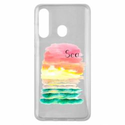 Чехол для Samsung M40 Watercolor pattern with sea
