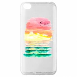 Чехол для Xiaomi Redmi Go Watercolor pattern with sea