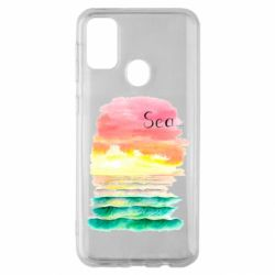 Чехол для Samsung M30s Watercolor pattern with sea